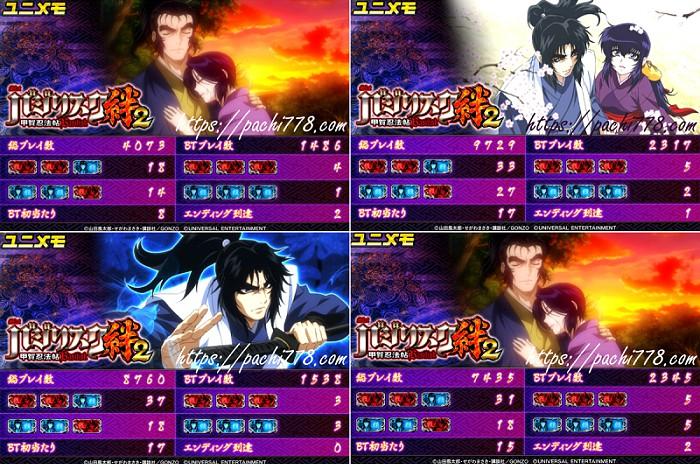 バジリスク絆2設定4以上確定ユニメモ画像2