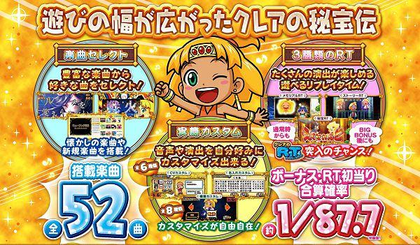 もっと!クレアの秘宝伝 女神の歌声と太陽の子供達 公式サイト機種の特徴